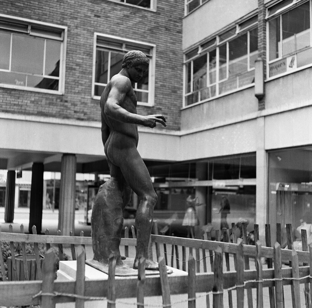 Bronze statue at Bank Court in Hemel Hempstead, Hertfordshire, 1962 Art Print