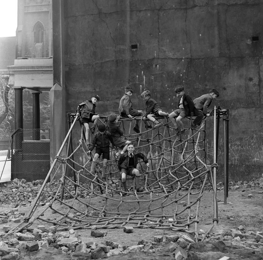 Clydesdale Road Adventure Playground, London, 1955.  Art Print