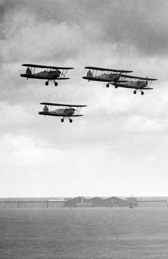 RAF Tiger Moth trainers Art Print Art Print
