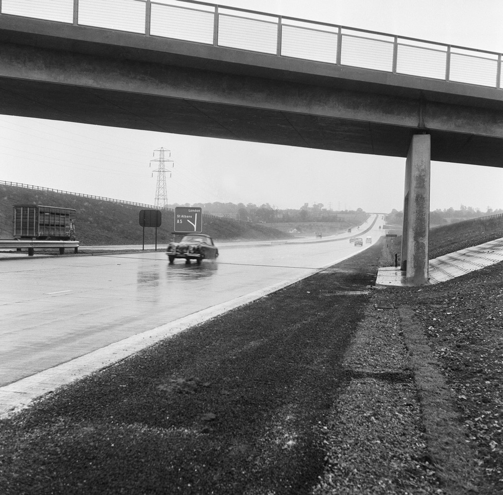 The M1 Motorway Art Print Art Print