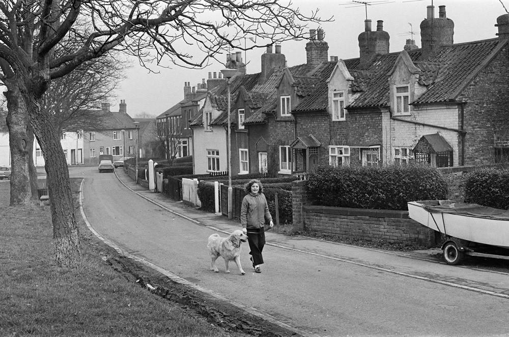 Egglescliffe Village, County Durham. 1972 Art Print Art Print