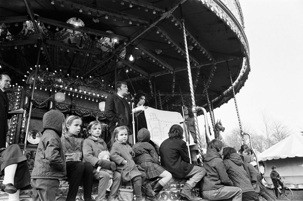 Good Friday Fairground, Watford - Art Print Art Print
