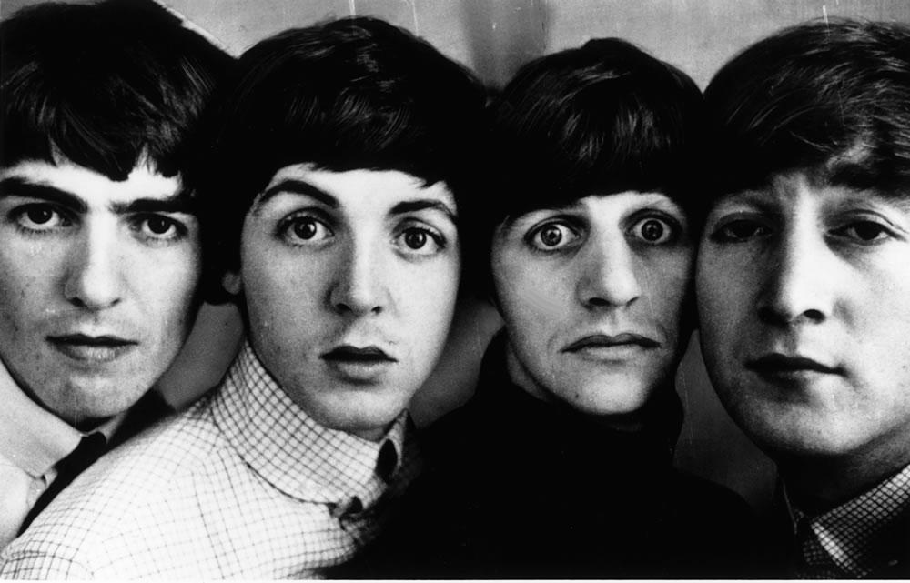 Beatles pop group in 1963. Heads next.. Art Print