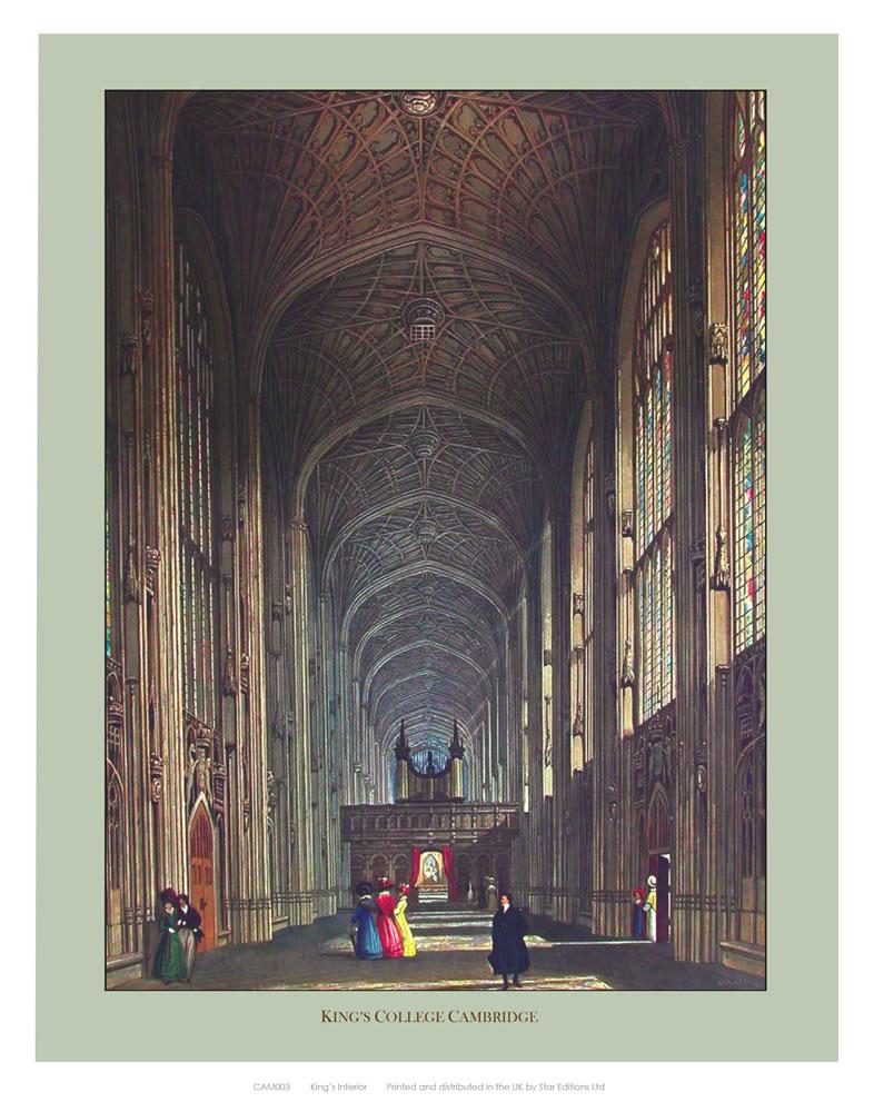 Inside King's College Art Print