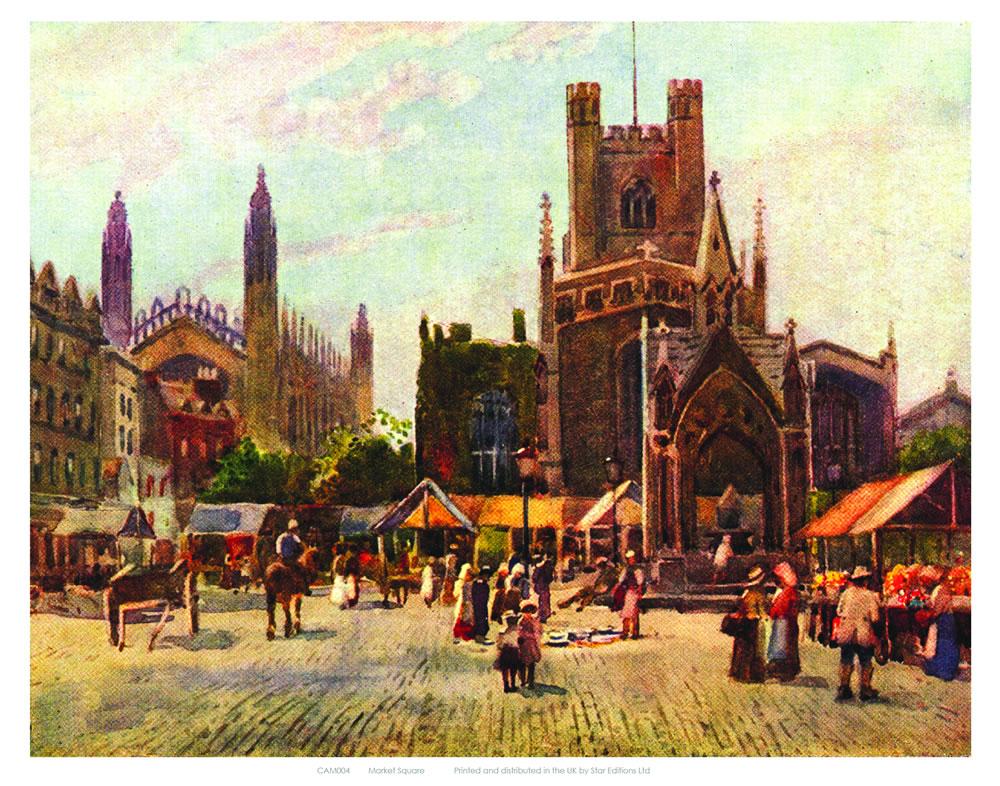 Market Square Cambridge Art Print