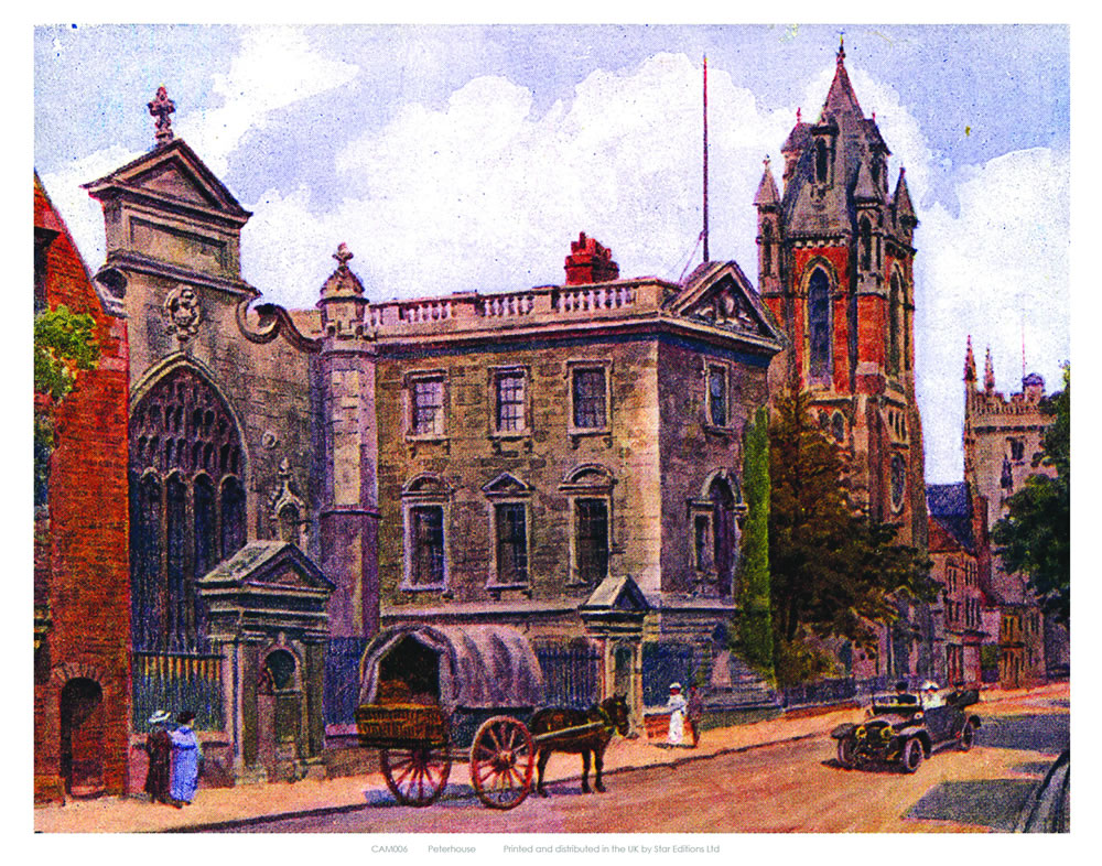 Peterhouse Cambridge Art Print