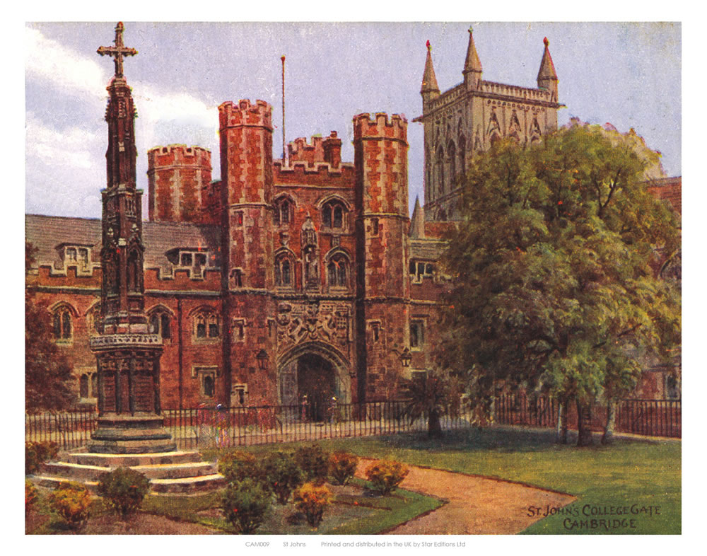 St John's Cambridge Art Print