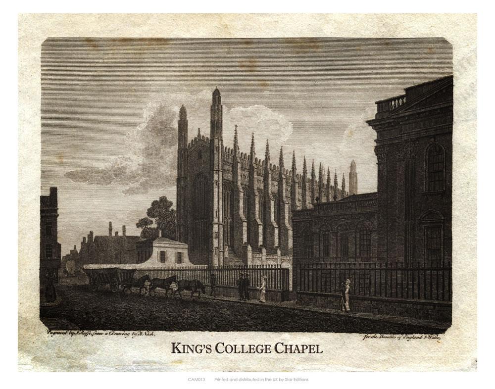 King's College Chapel Art Print