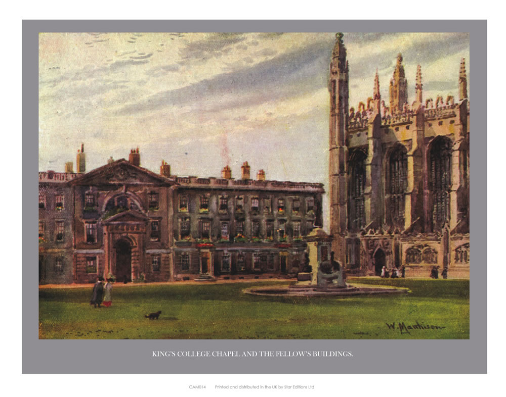 King's College Chapel and the Fellow's Building Art Print