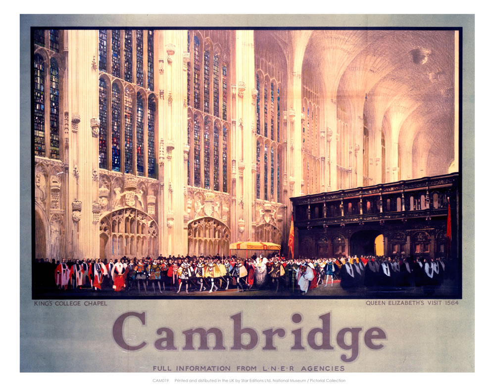 Queen Elizabeth's Visit to King's College Art Print  Art Print