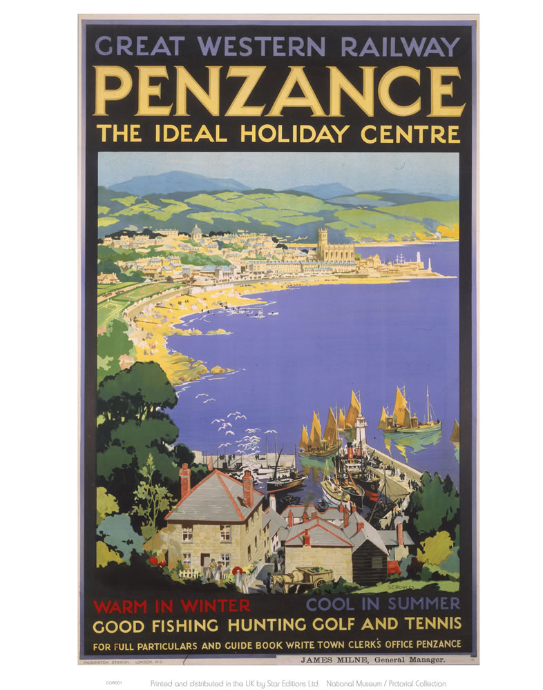 Penzance The Ideal Holiday Centre Art Print  Art Print
