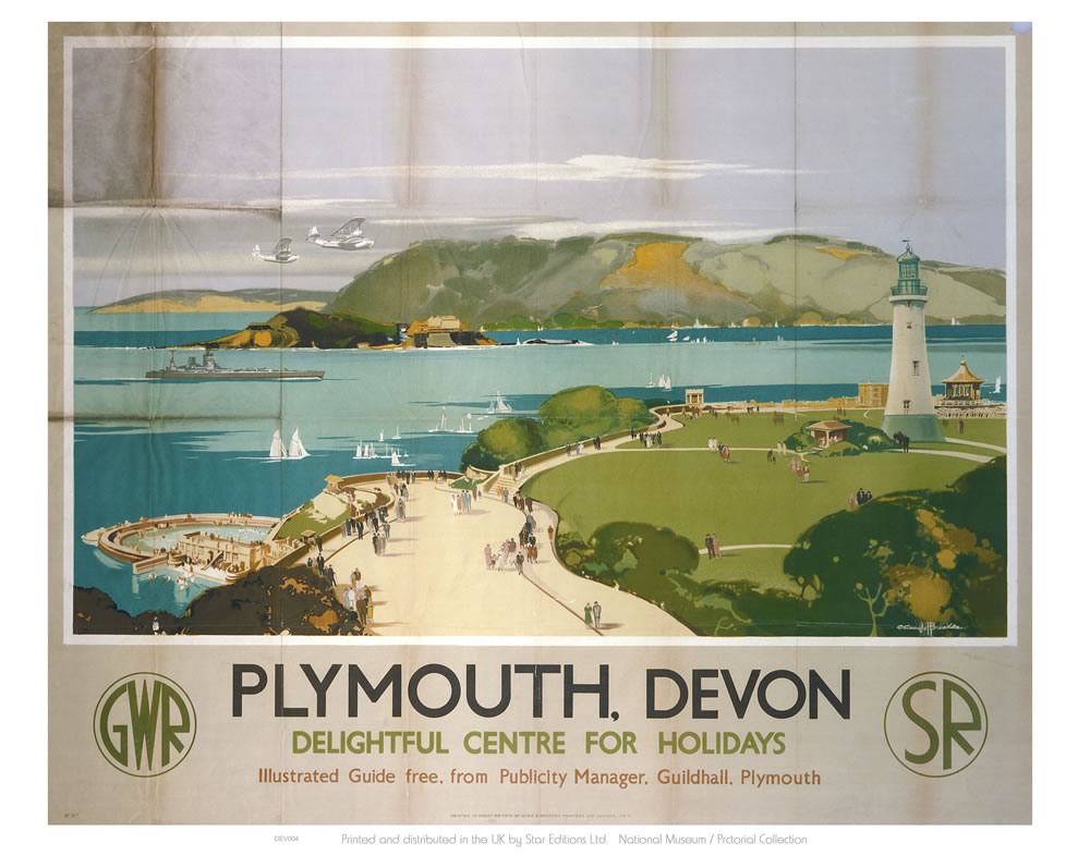 Plymouth Devon, Delightful Centre for Holidays Art Print  Art Print