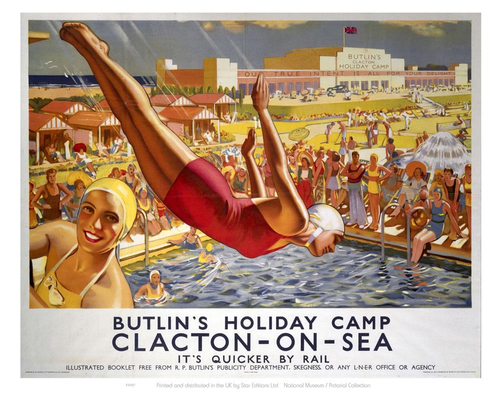 Butlins Clacton Art Print