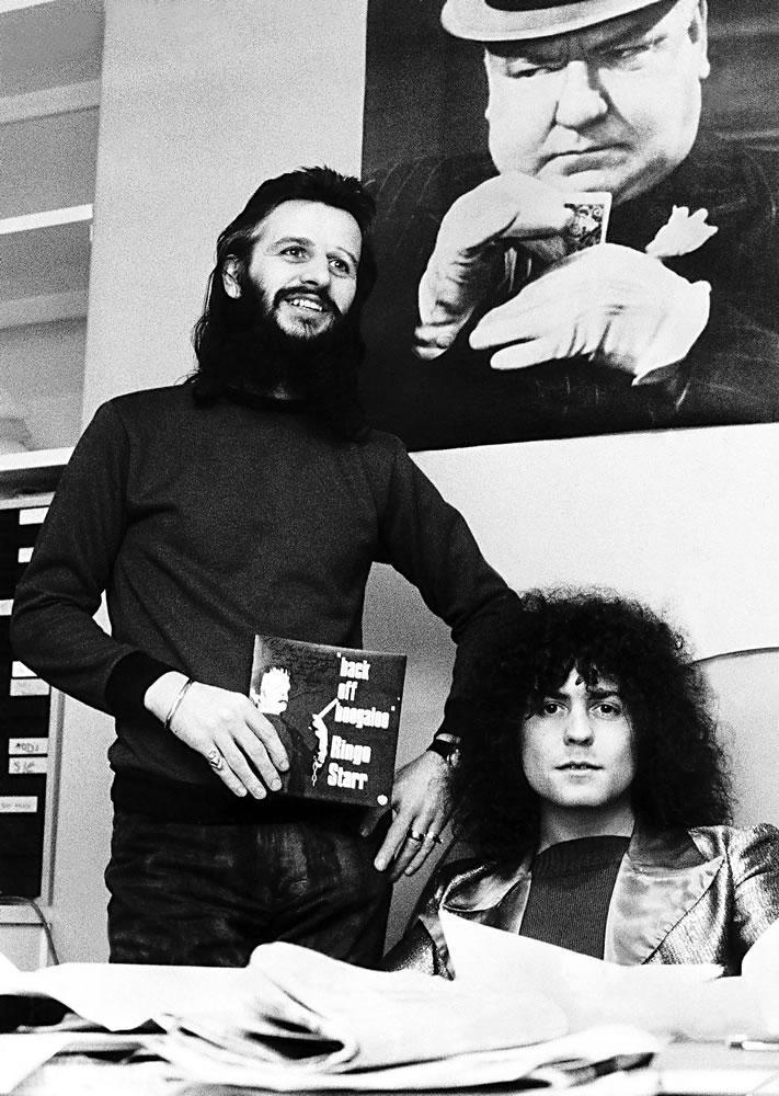 Marc Bolan Ringo Starr Promoting Back Art Print