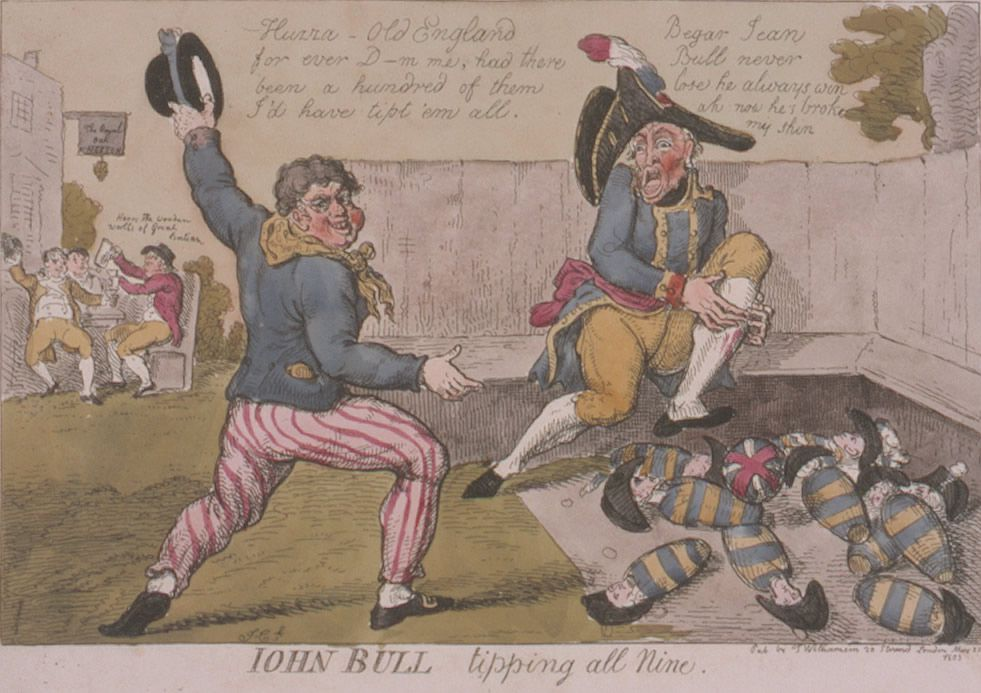 John Bull Tipping All Nine  Art Print