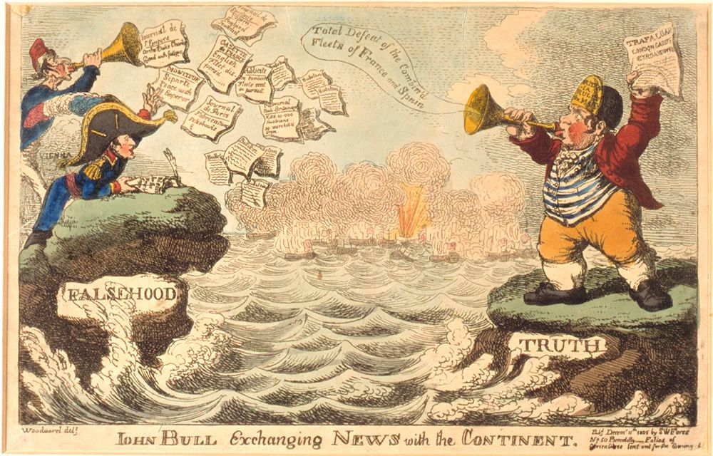 John Bull Exchanging News with the Continent Art Print