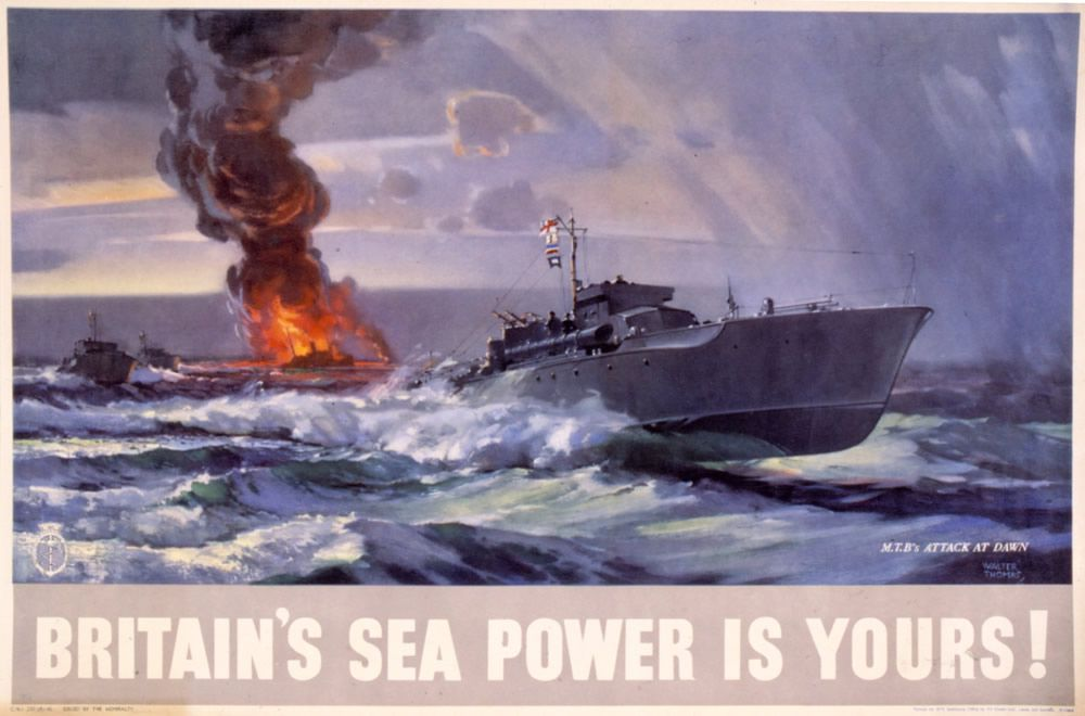 Britain's Sea Power is Yours! MTB's Attack at Dawn Art Print
