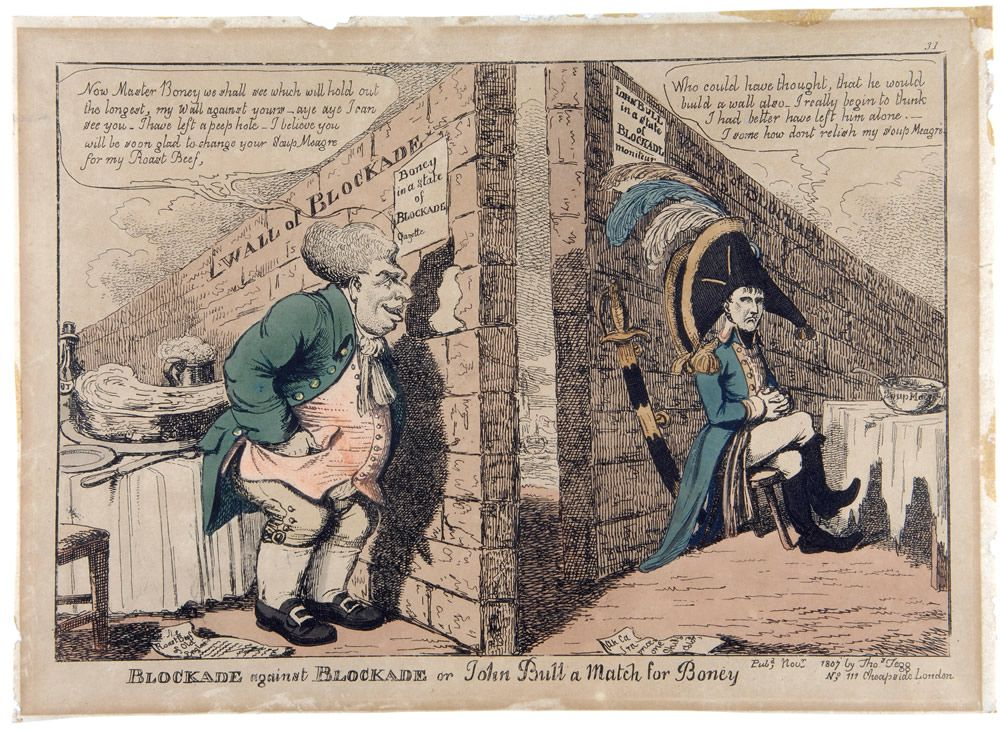 Blockade against Blockade or John Bull a Match for Boney Art Print