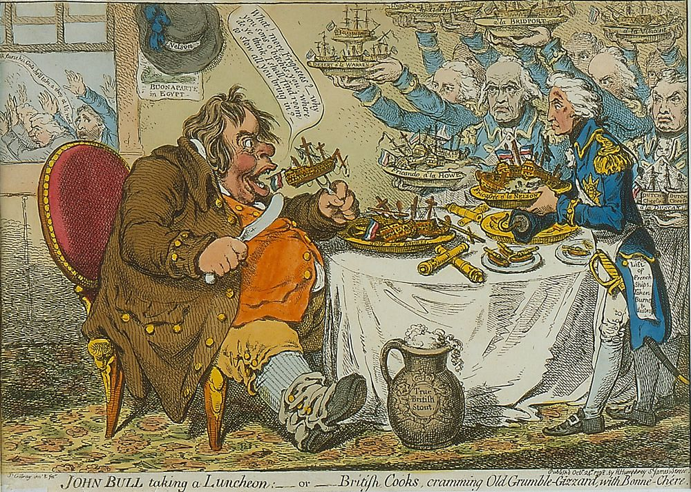 John Bull Taking a Luncheon Art Print