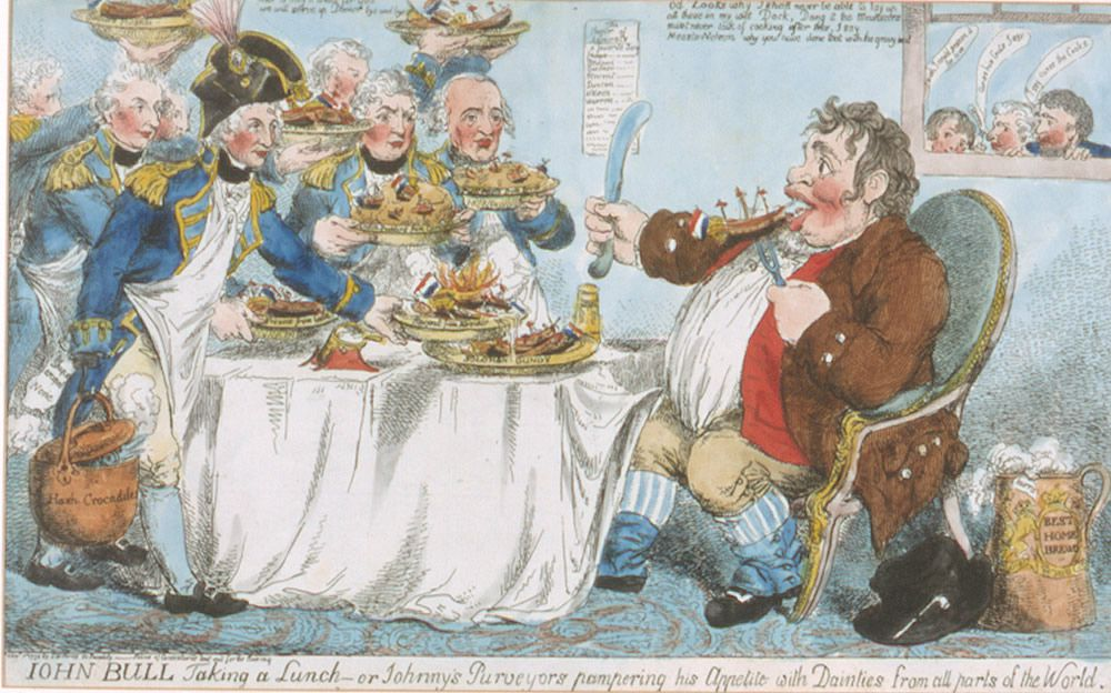 John Bull Taking a Lunch Art Print