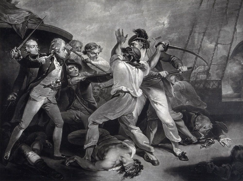 The Distinguished Action of the Gallant Nelson Art Print