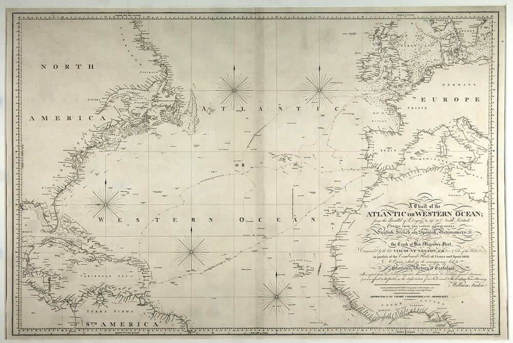 A Chart of the Atlantic or Western Ocean Art Print