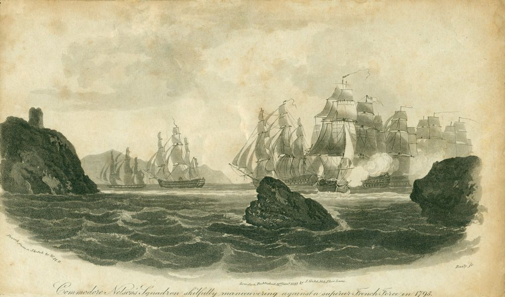 Commodore Nelson's Squadron Skilfully Manoeuvering Against a Superior French Force in 1795 Art Print