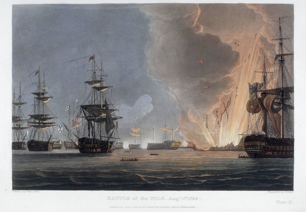 Battle of the Nile, August 1798 Art Print