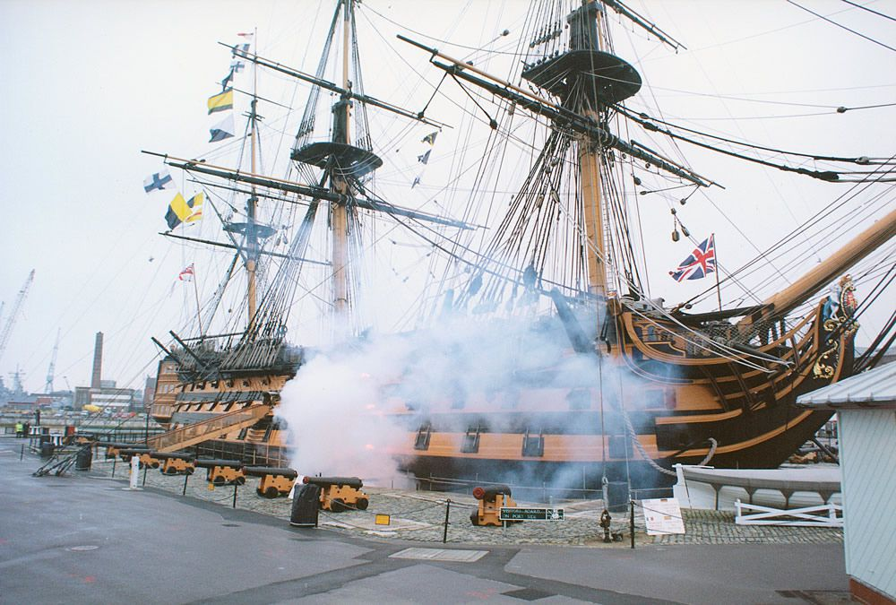HMS Victory Firing Broadside, 1999 Art Print