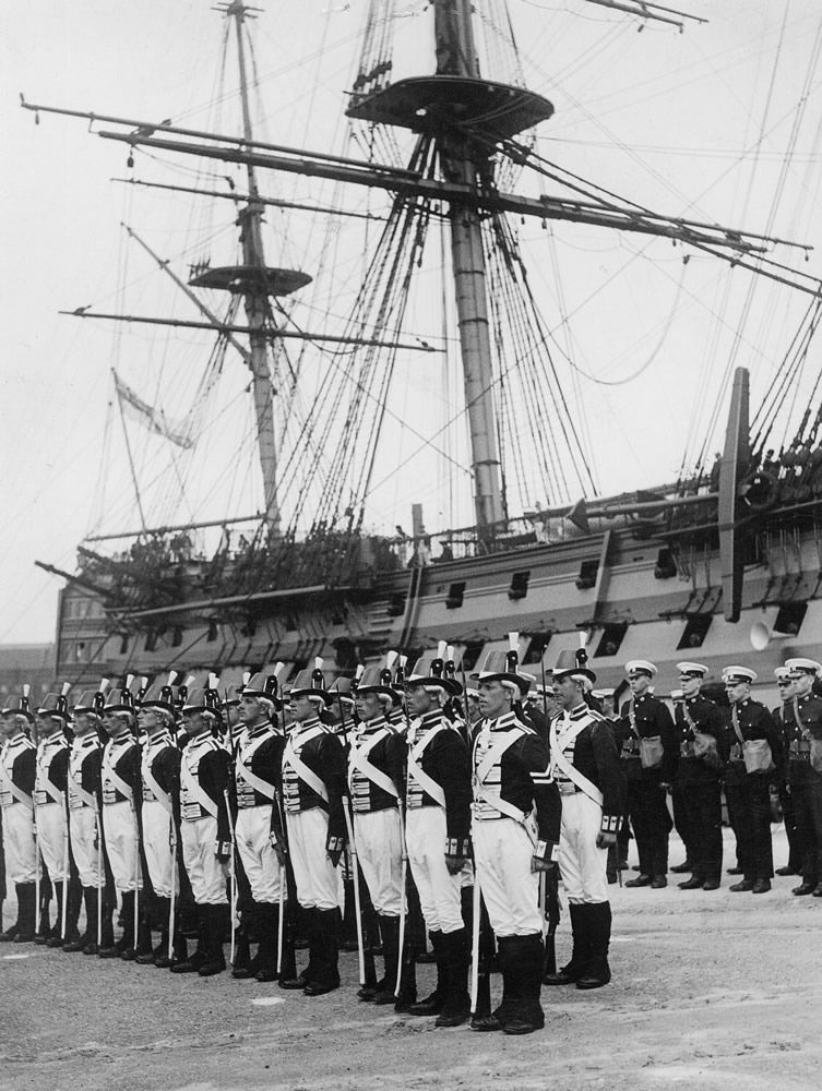 Ceremony Beside HMS Victory, 1930s Art Print