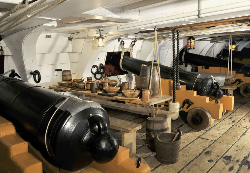 The Mess Deck on Board HMS Victory Art Print