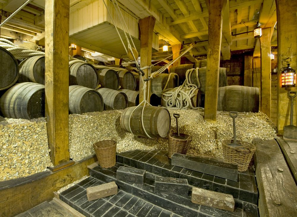 Ballast in the Hold of HMS Victory Art Print