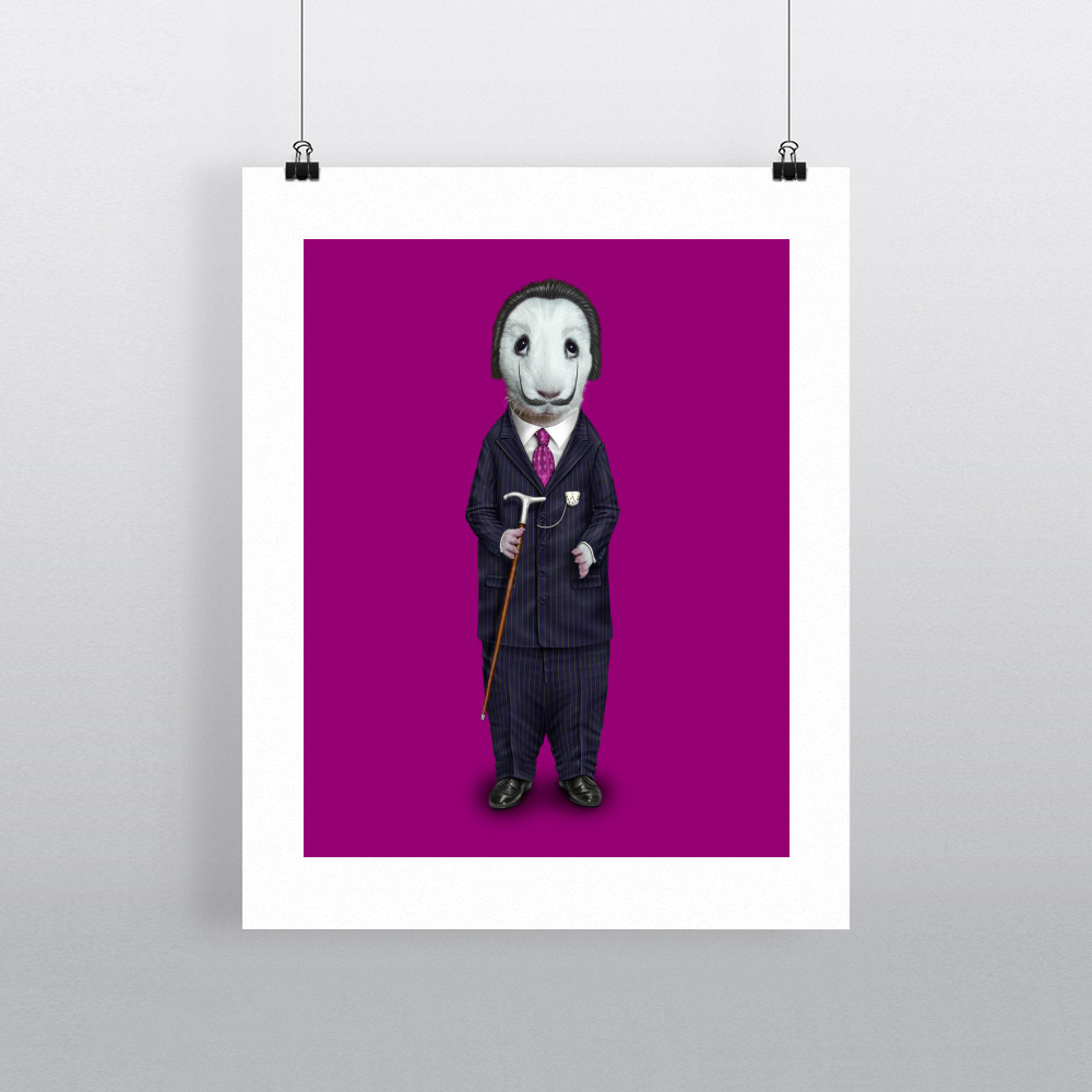 Surreal Pets Rock 11' by 14' Art Print