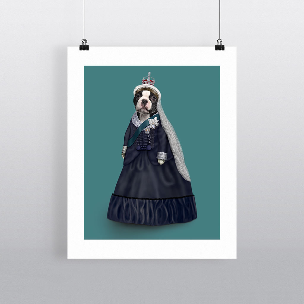Queen Vic Pets Rock 11' by 14' Art Print