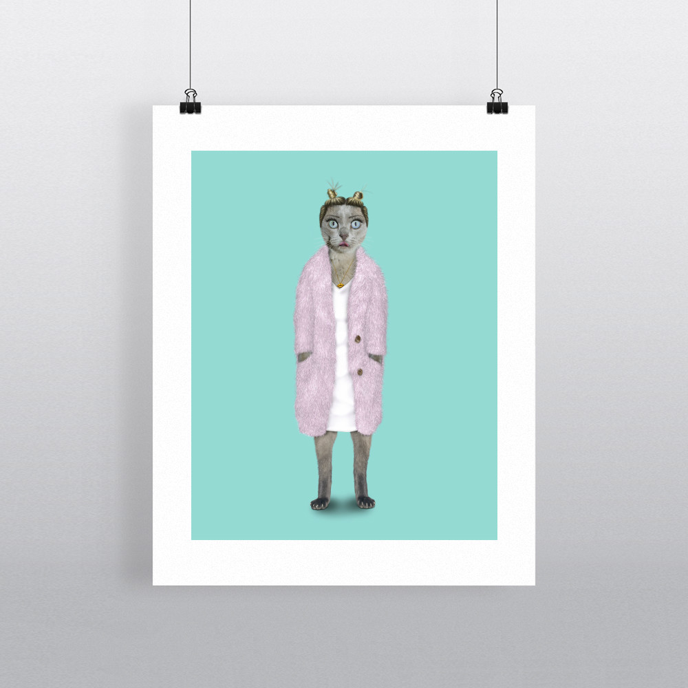 Twerk Pets Rock 11' by 14' Art Print
