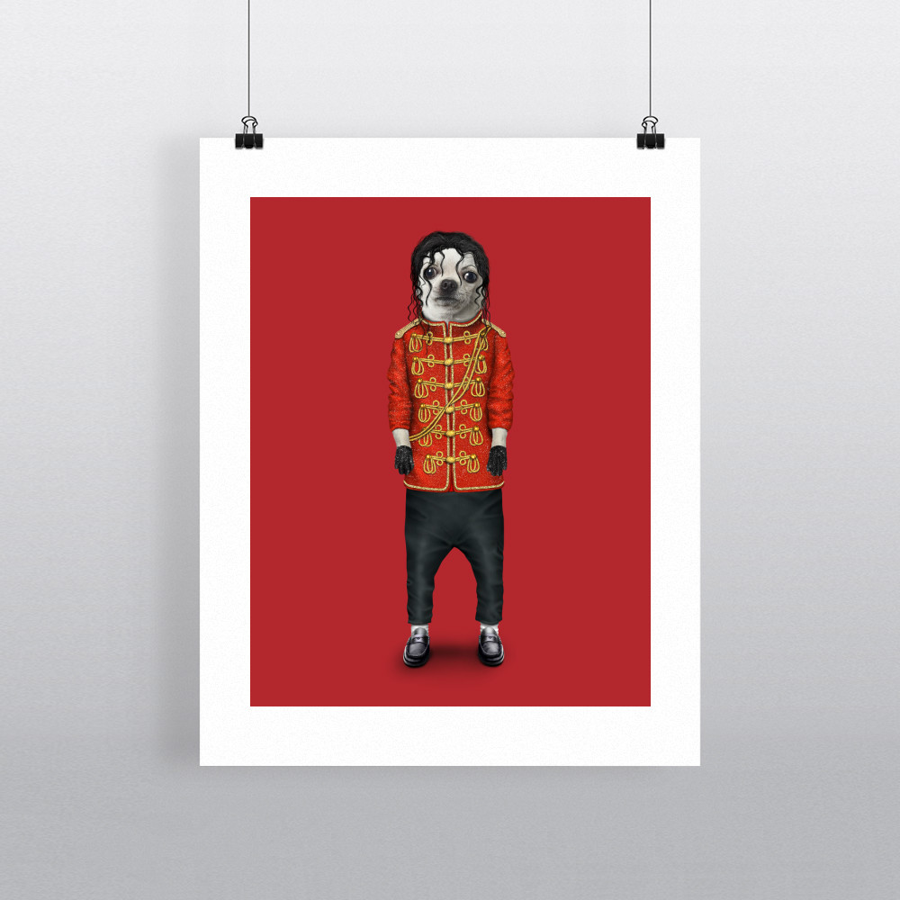 Pop Pets Rock 11' by 14' Art Print