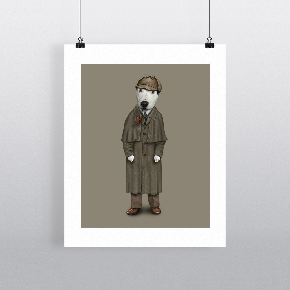 Detective Pets Rock 11' by 14' Art Print