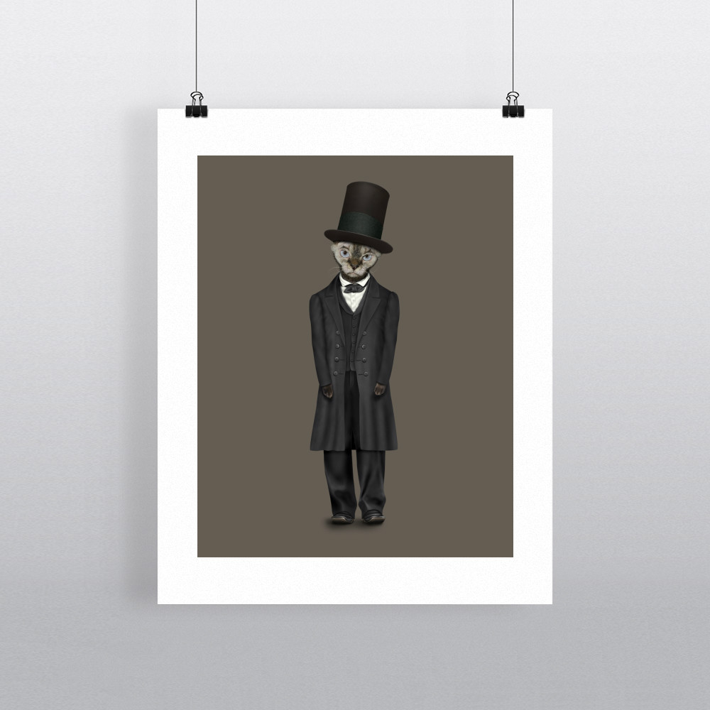 Lincoln Pets Rock 11' by 14' Art Print