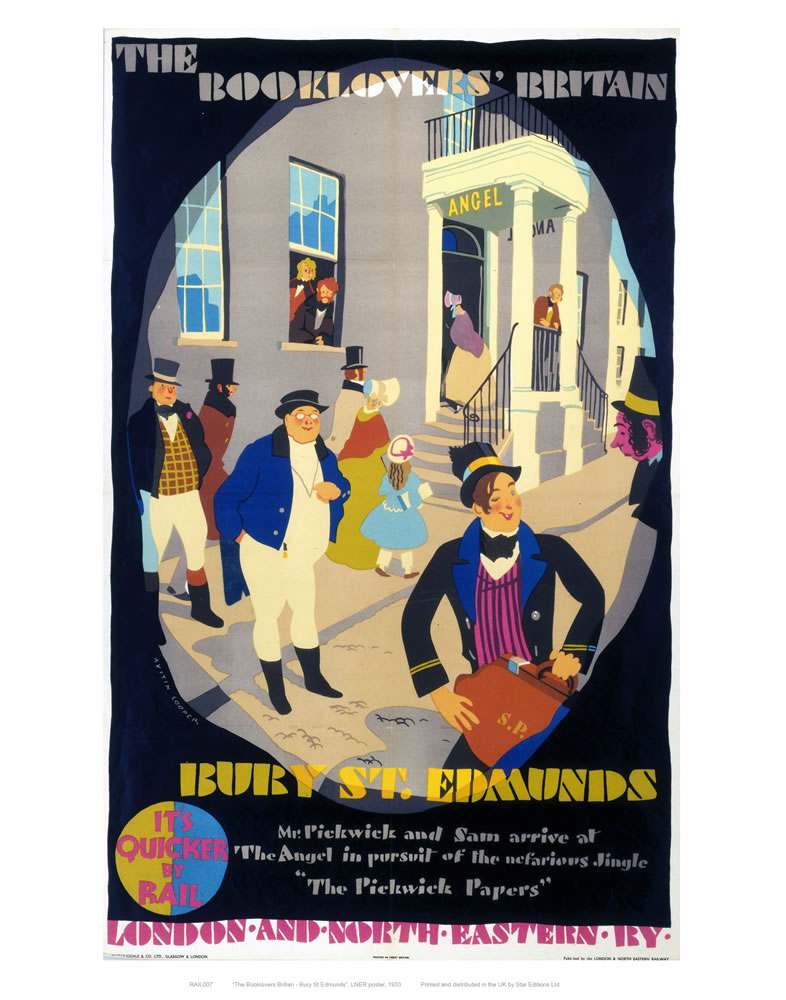 Railway Posters - Bury St Edmunds Art Print