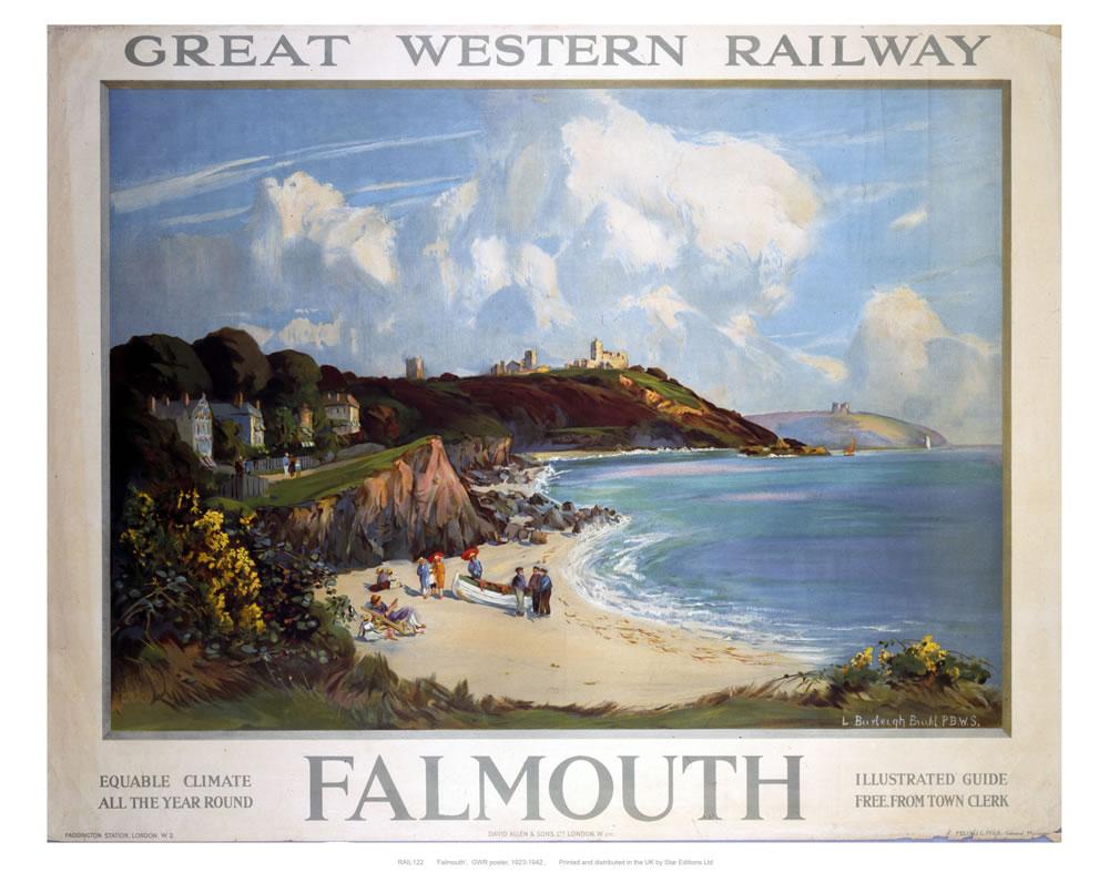 Railway Poster - Falmouth Art Print