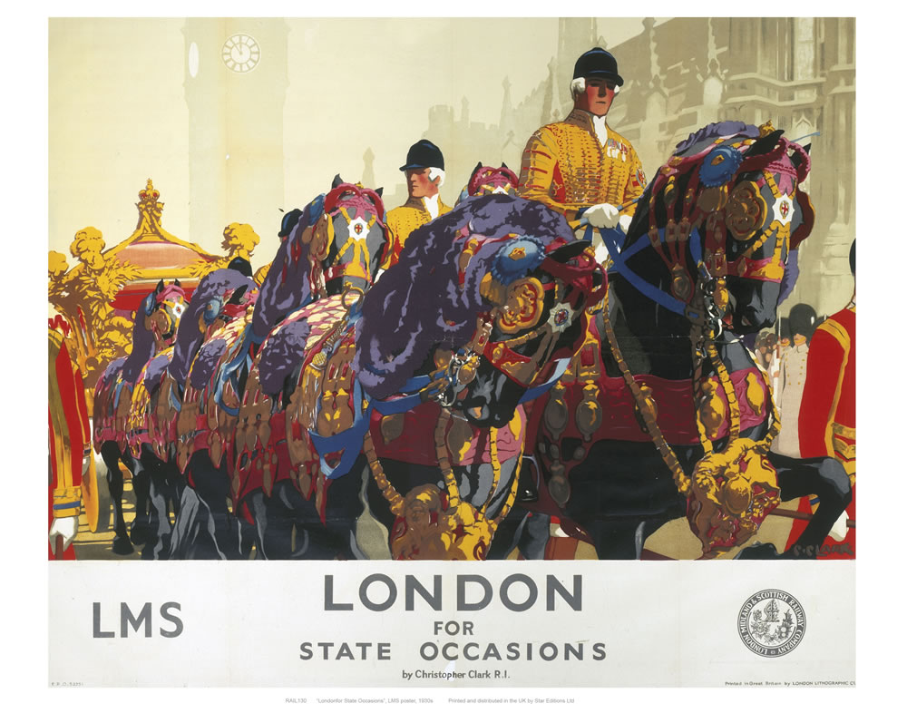 London for state occasions Art Print  Art Print
