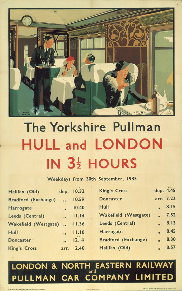 The Yorkshire Pullman - Hull and London Art Print  Art Print