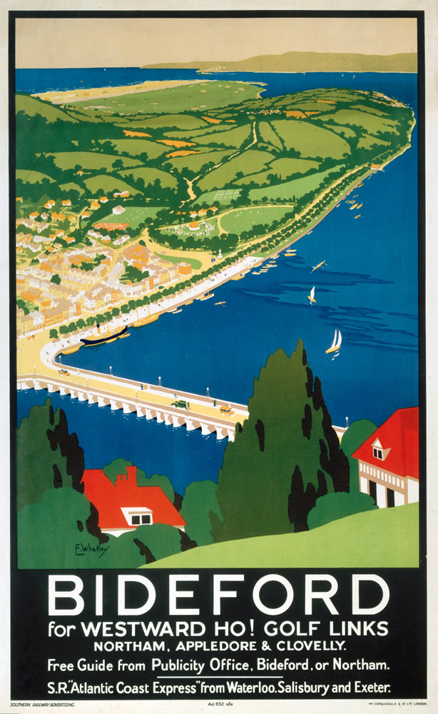Bideford for Westward Ho! Golf Links Art Print  Art Print