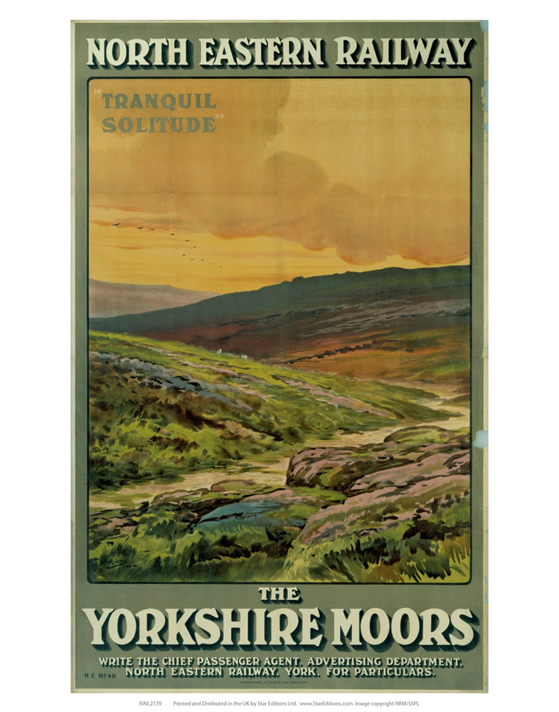 The Yorkshire Moors Art Print  Art Print