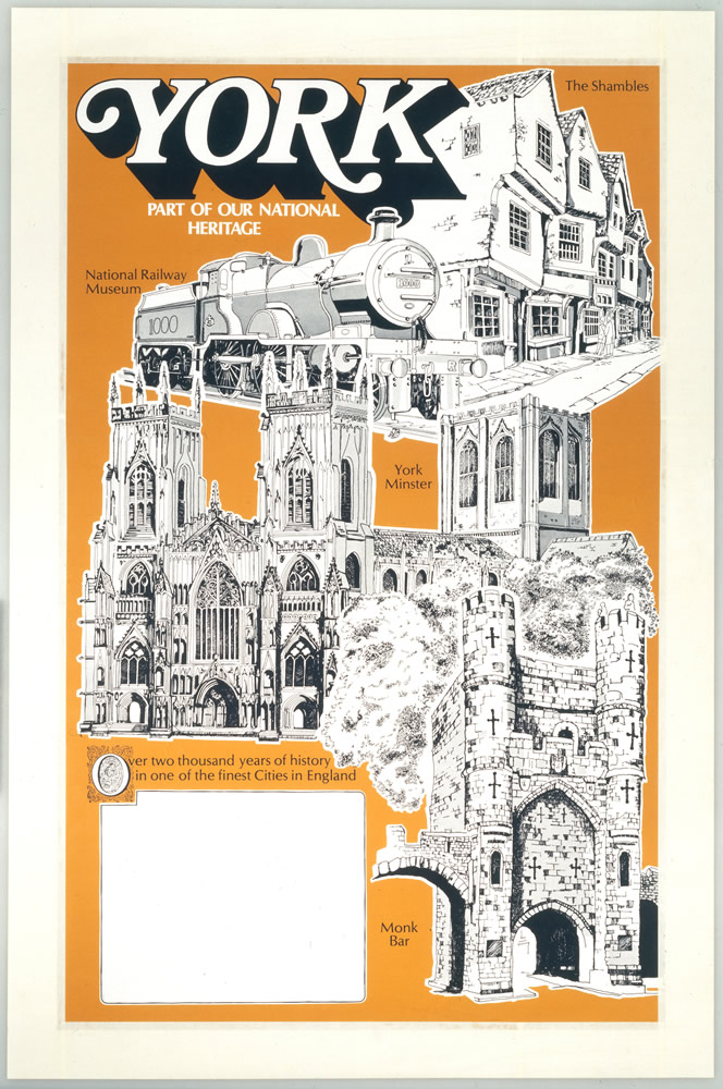 York National Heritage poster Art Print  Art Print