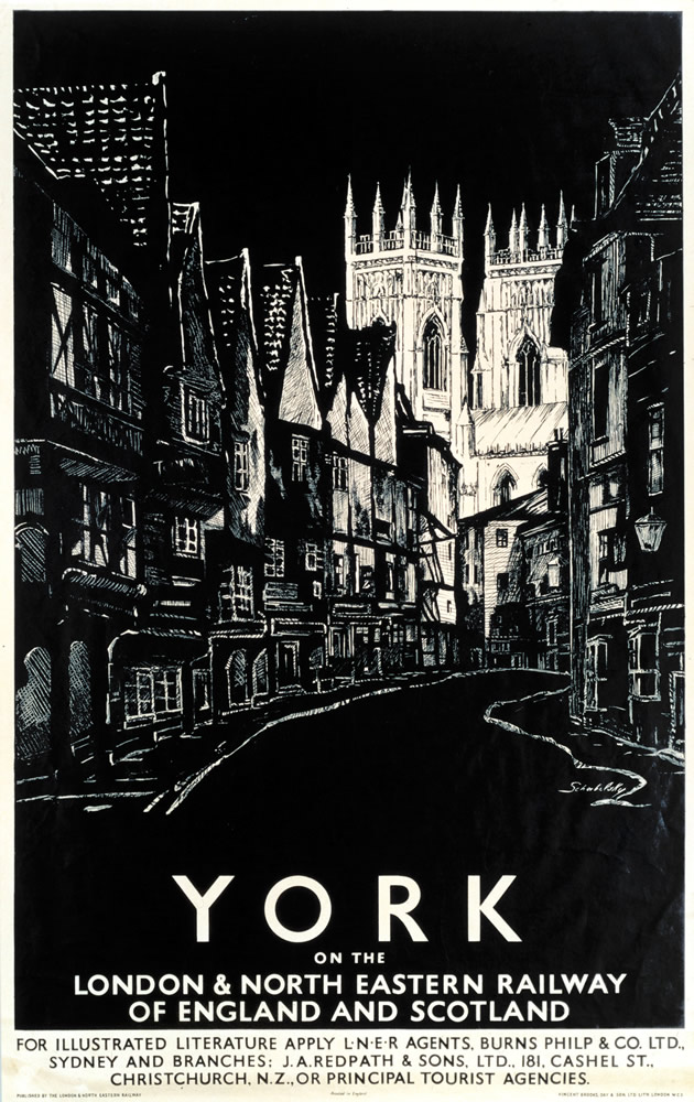 York on the LNER Art Print  Art Print