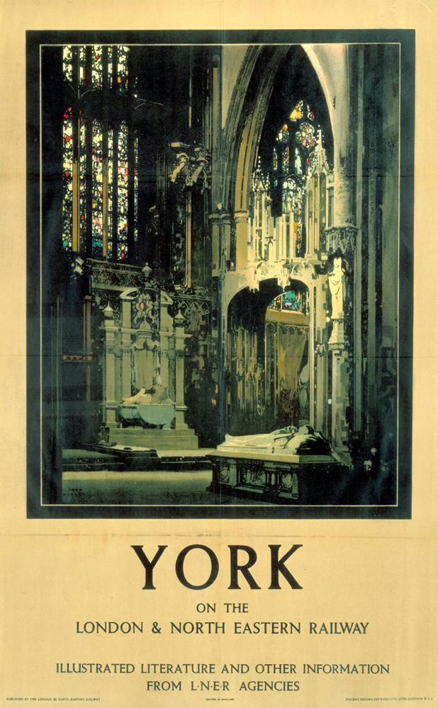 York Minster on the LNER Art Print