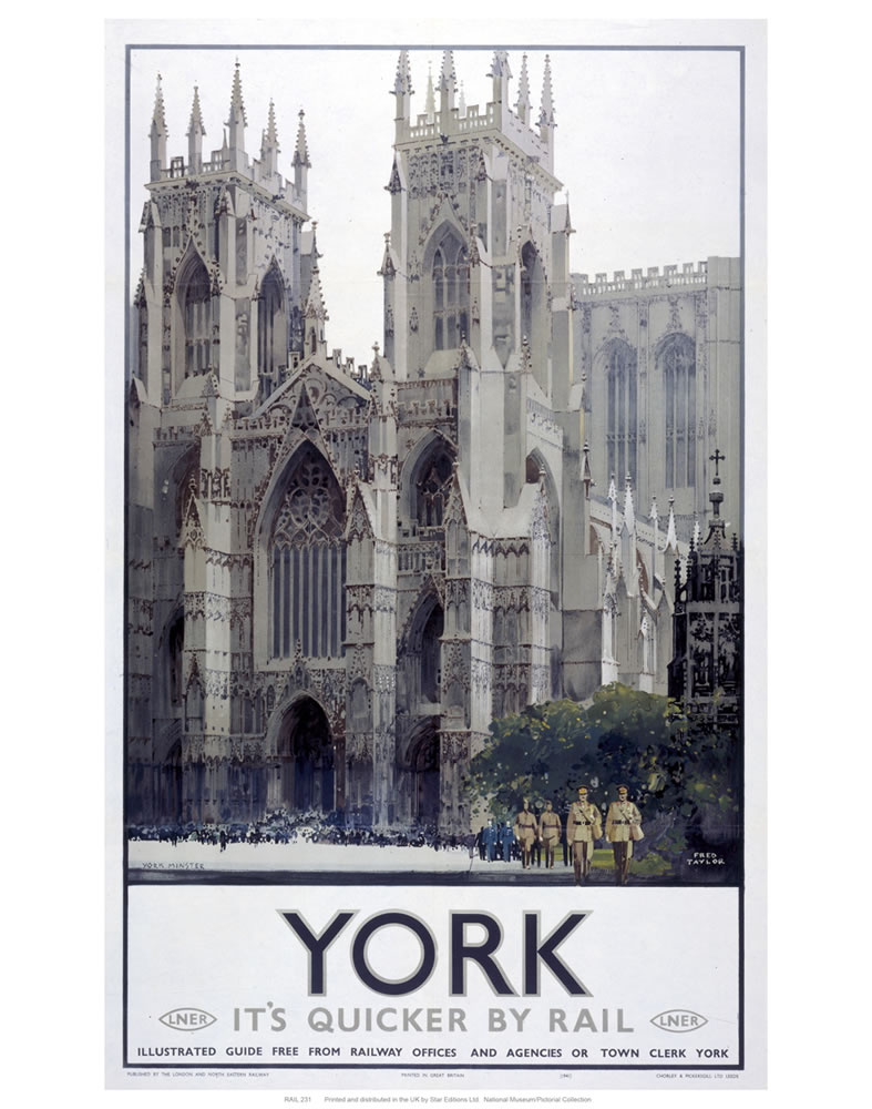 York Cathedral Art Print  Art Print