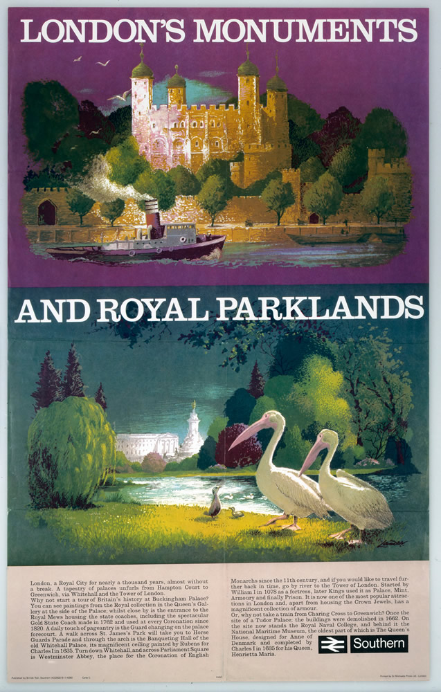 London's Monuments and Royal Parklands Art Print
