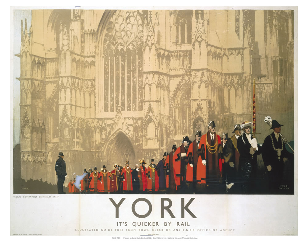 York Cathedral Procession Art Print  Art Print